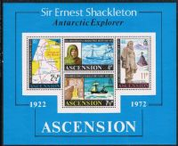 Ascension SGMS163 1972 50th Anniversary of Shackleton's Death Miniature Sheet unmounted mint
